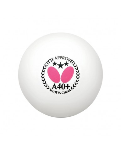 Butterfly 3 Star A40+ Table Tennis Balls - 6 Pack