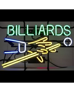 Billiards with Hand & Cue Neon Sign