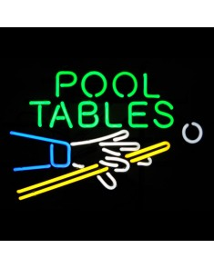 Pool Table Hand & Cue Neon Sign