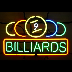 Nine Ball Billiards Neon Sign