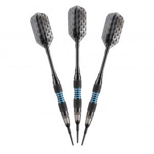 Bobcat Soft Tip Darts Black - Adjustable 16-19gm
