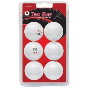 MK 2 Star Ping Pong Balls - 6 Pack