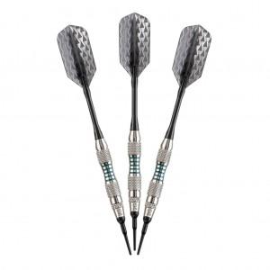 Bobcat Soft Tip Darts Silver - Adjustable 16-18gm