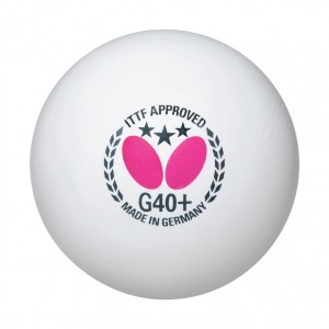 Butterfly 3 Star G40+ Table Tennis Balls - 12 Pack