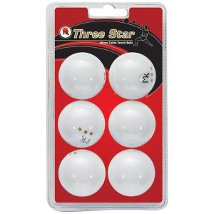 MK 3 Star Ping Pong Balls - 6 Pack