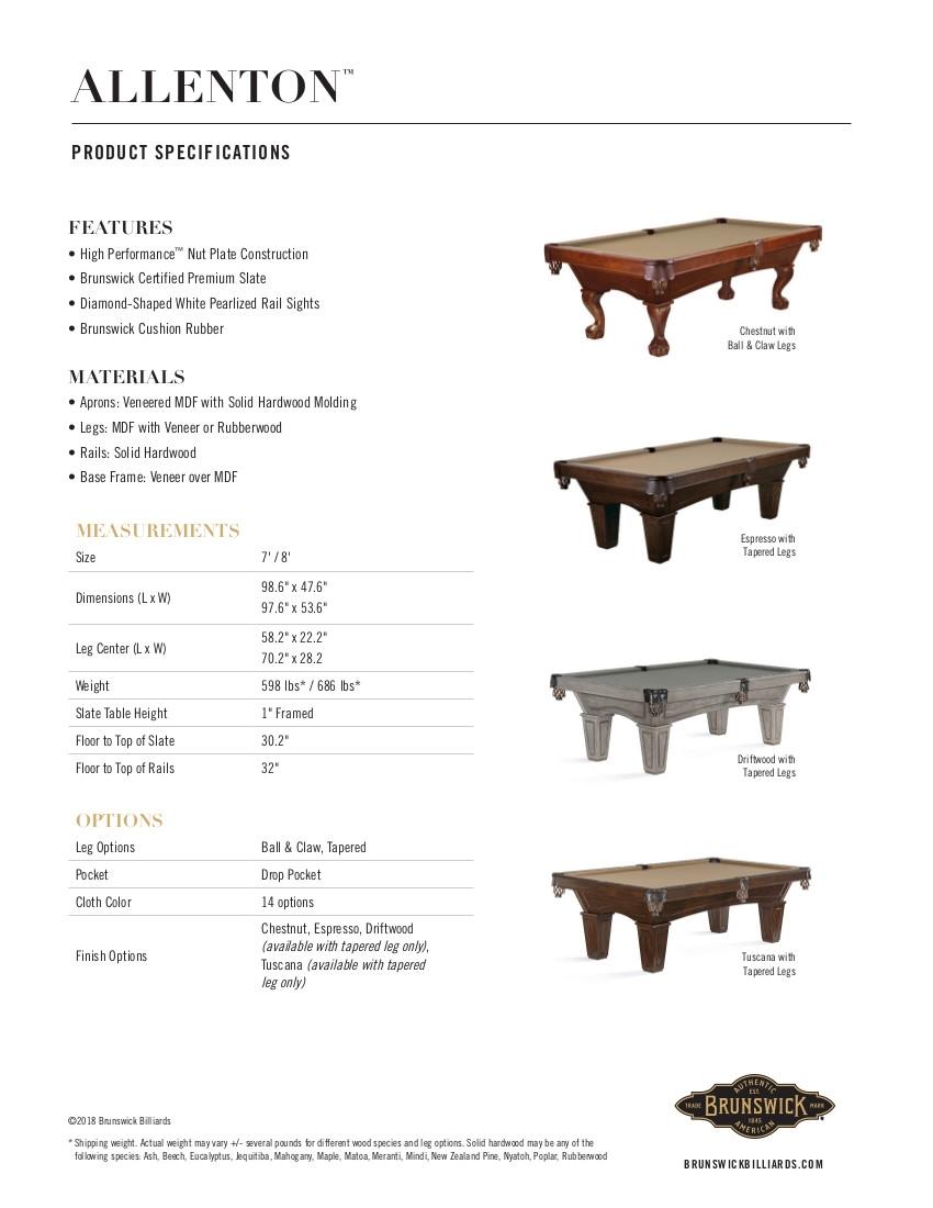 Allenton Product Sheet