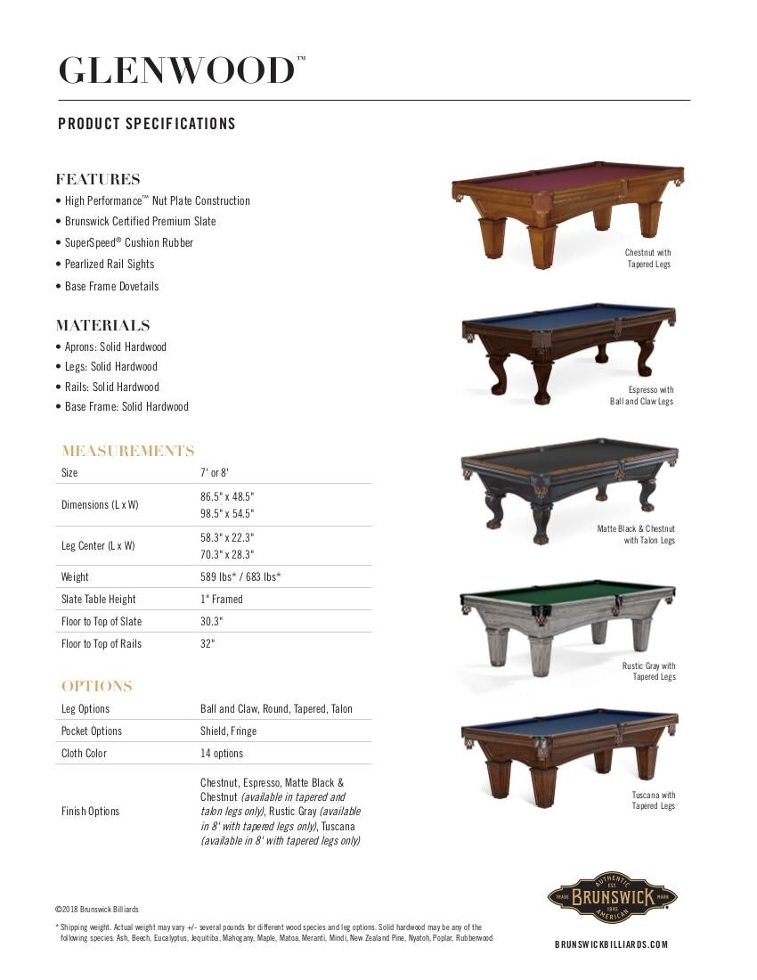 Glenwood Product Sheet