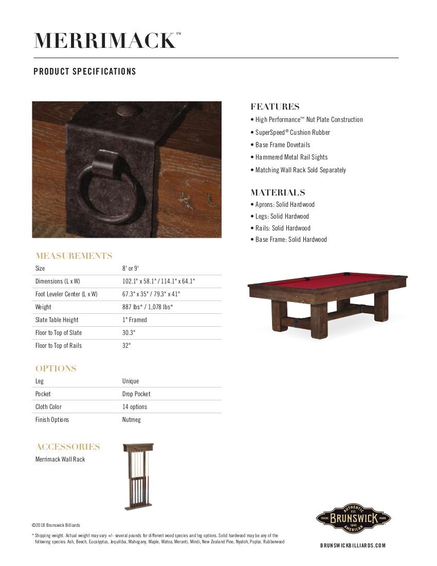 Merrimack Product Sheet