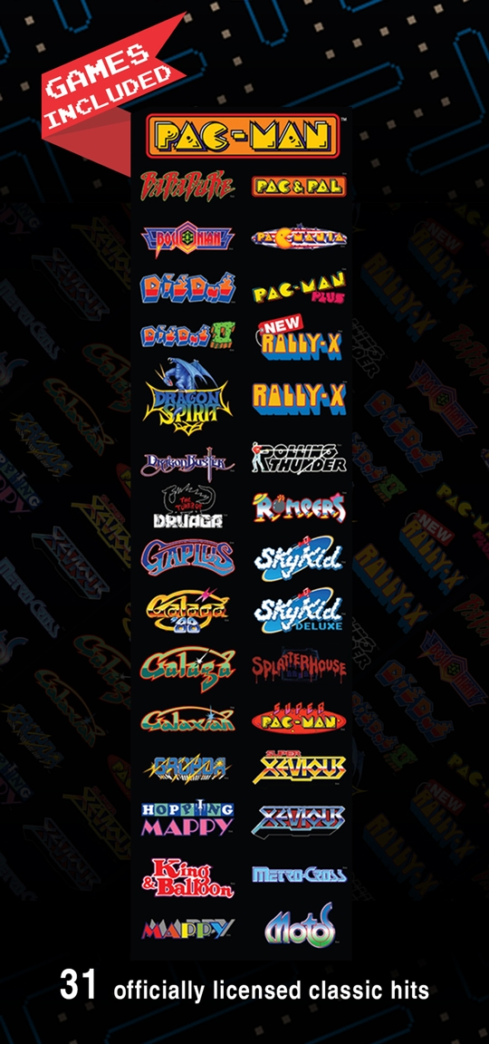 Pac-Man Pixel Bash List of Games
