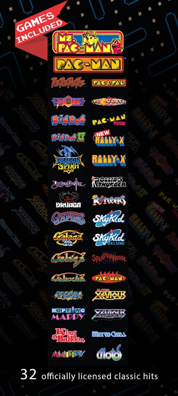 Pac-Man Pixel Bash Cocktail List of Games