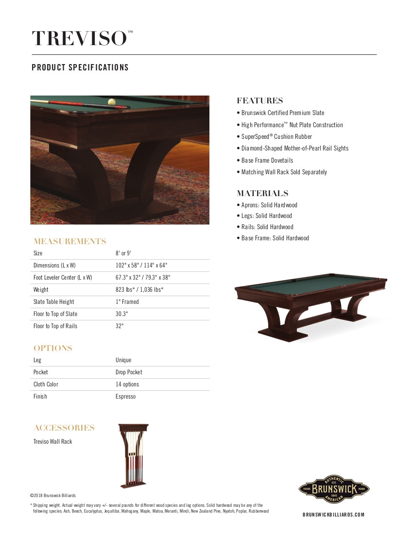 Treviso Product Sheet